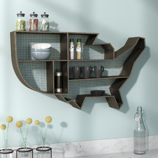 United States Display Wall Accent Shelf