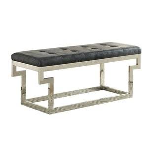 Player Faux Leather Bench