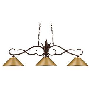 Fleur De Lis Living Beehler 3-Light Pool Table Lights Pendant