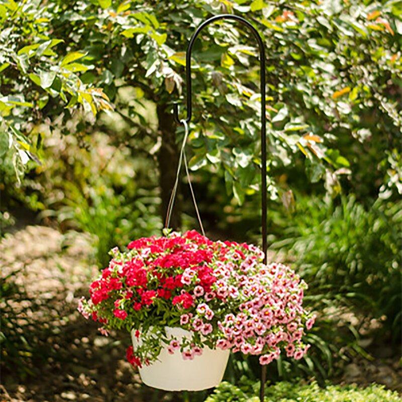 Erva 4 Arm Topper Twisted Wrought IronBirdfeeder Flower Garden Patio Decoration