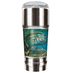 Mark Susinno's Bass and Spinner 32 oz. Stainless Steel Travel Tumbler
