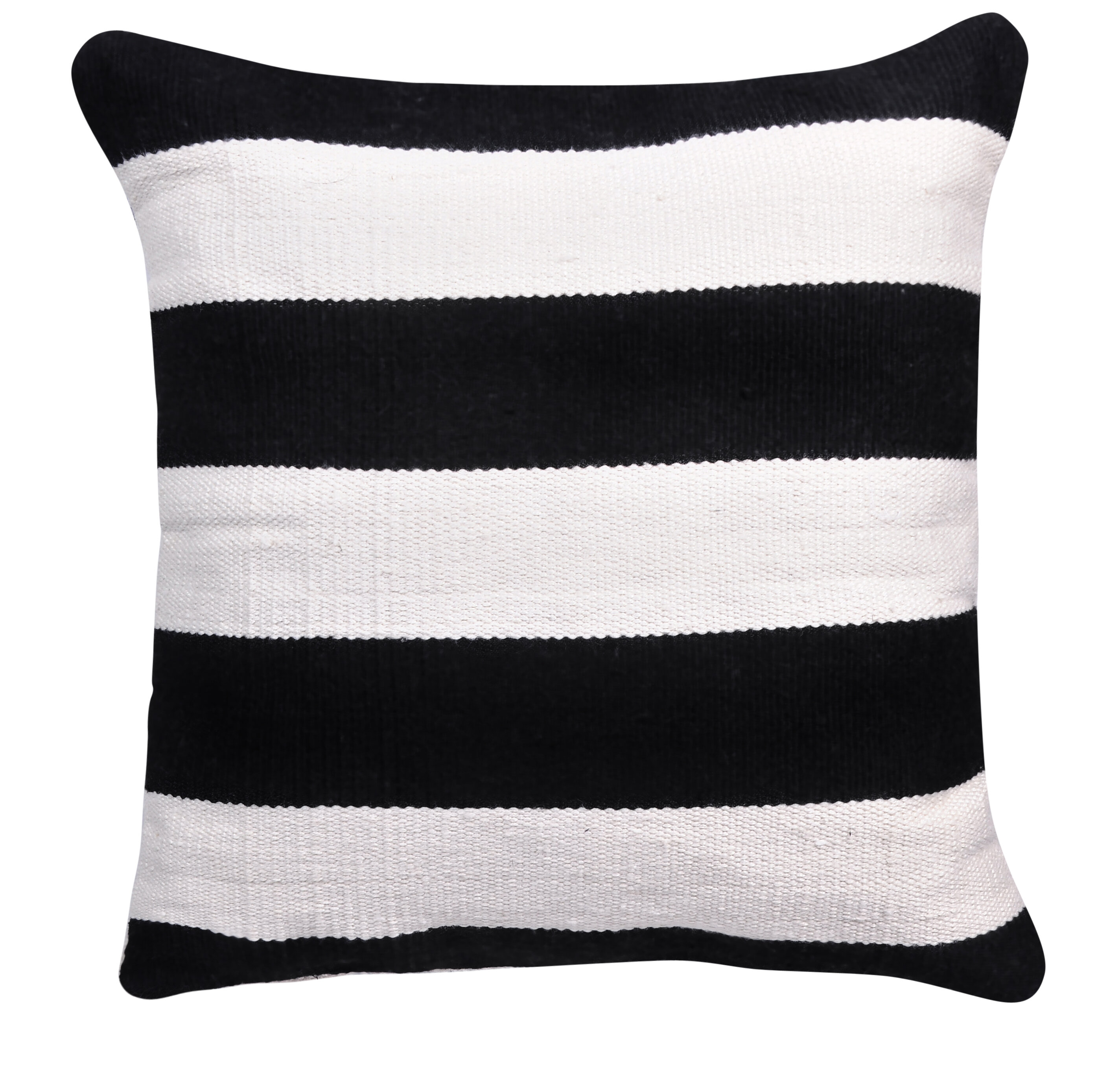 Longshore Tides Anniedale Decorative Indoor Outdoor Striped Throw Pillow Black And White 20 X 20 Wayfair