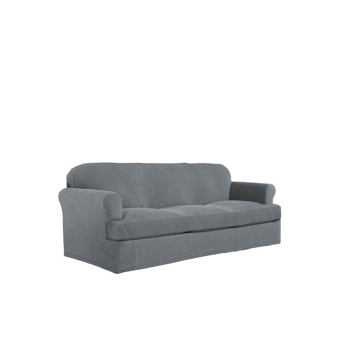Swell Stretch Grid Box Cushion Sofa Slipcover Beatyapartments Chair Design Images Beatyapartmentscom