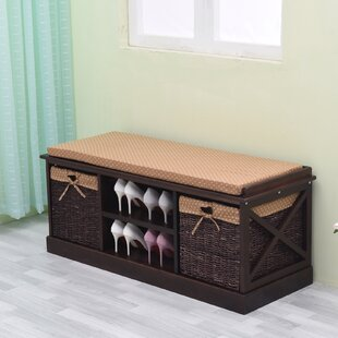 Greenville Signature Wood Storage Bench