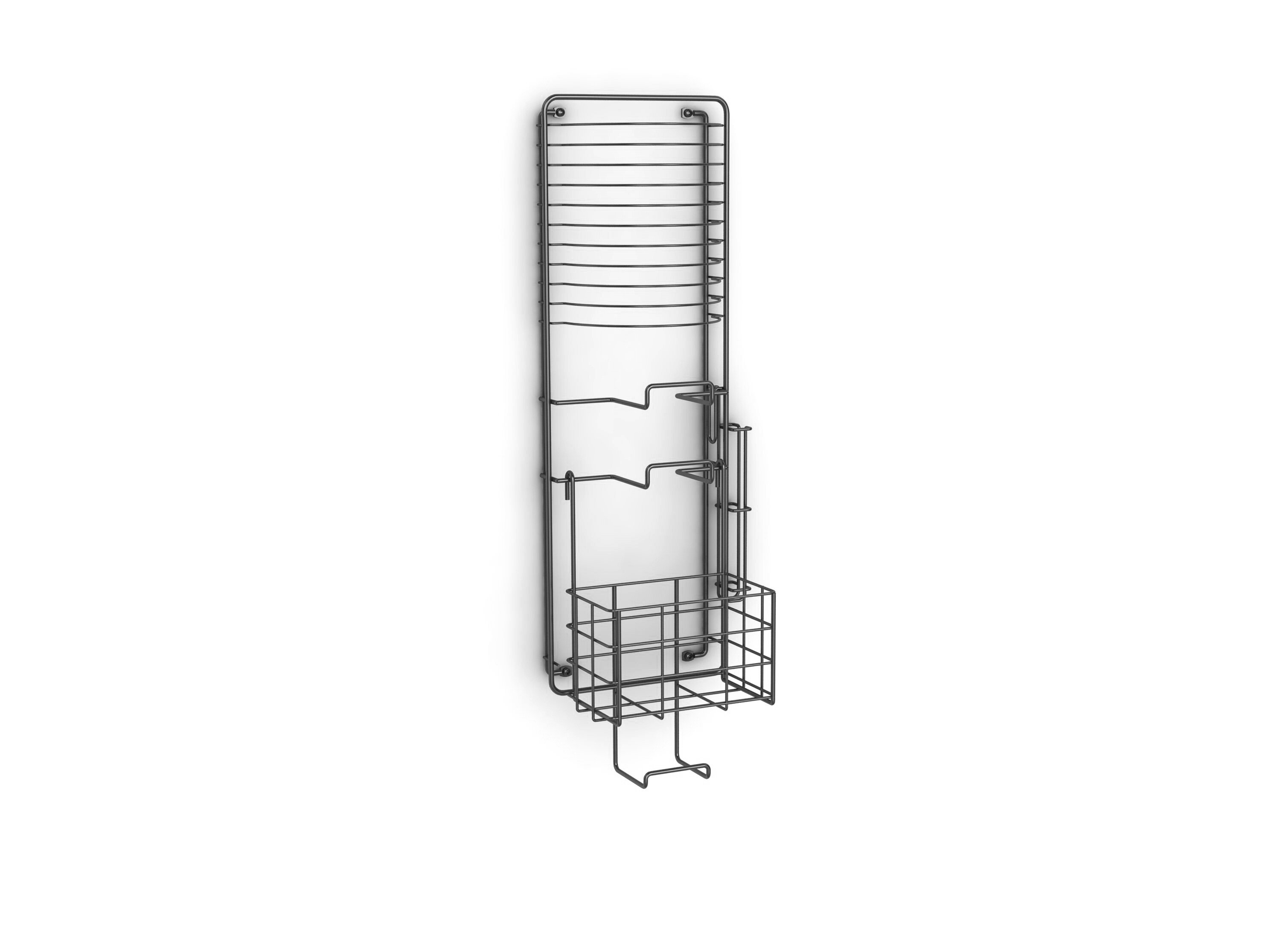 Atlantic Wall Mounted Storage Rack U0026 Reviews | Wayfair