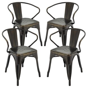 Pontiff Bar Stool with Back (Set of 4) Gracie Oaks