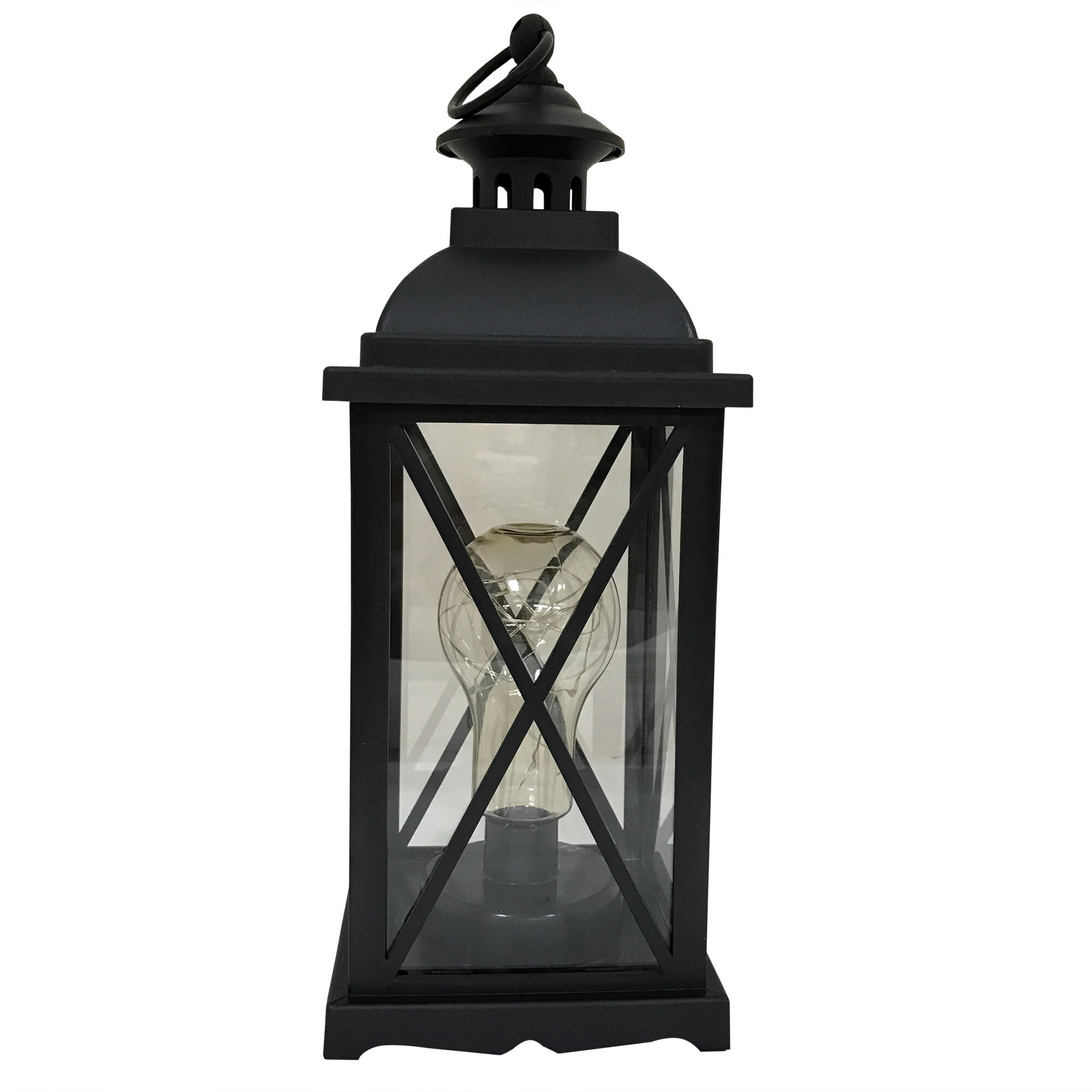 Charlton Home Kaneville Battery-Operated 1-Light LED Indoor Hanging ...