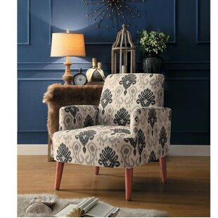 Bungalow Rose Gallegos Printed Fabric Armchair