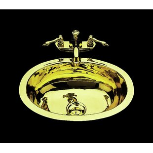 Check Prices Sculptured Metal Oval Undermount Bathroom Sink with Overflow ByBates & Bates