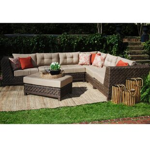 Larosa 7 Piece Sunbrella Sectional Seating Group with Sunbrella Cushions