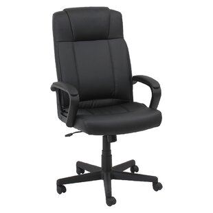 Review Mid-Back Leather Desk Chair by Oif