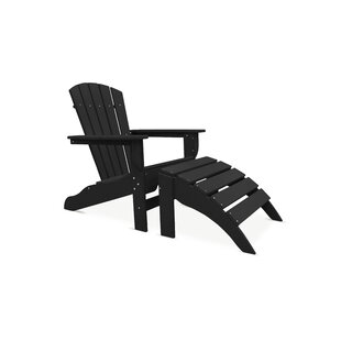 Strickland Adirondack with Ottoman by Breakwater Bay