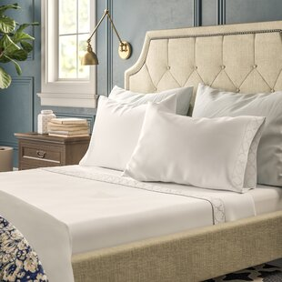 Bernice 300 Thread Count Solid Color 100% Cotton Sateen Sheet Set