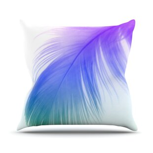 Feather Color Outdoor Throw Pillow By KESS InHouse