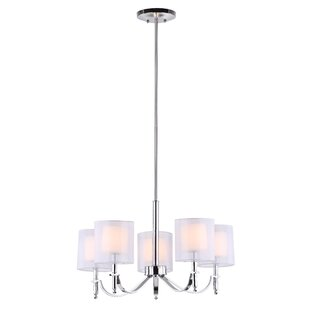 Charlton Home Lucian 5-Light Shaded Chandelier
