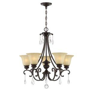 Astoria Grand Barnwell 5-Light Shaded Chandelier