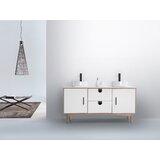 Portree 60 Double Bathroom Vanity Set by KartonRepublic