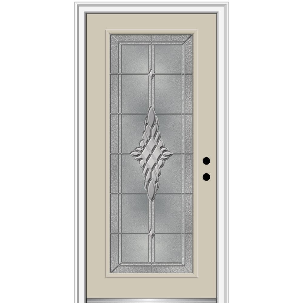 Verona Home Design Grace Painted Both Sides Different Full Lite Fiberglass Prehung Front Entry Door On 6 9 16 Frame Wayfair