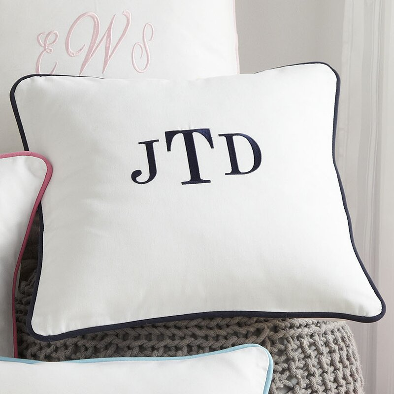 Harriet Bee Classic Monogrammed Pillow Cover Reviews Wayfair