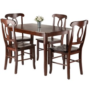 Fetter 5 Piece Solid Wood Dining Set Red Barrel Studio