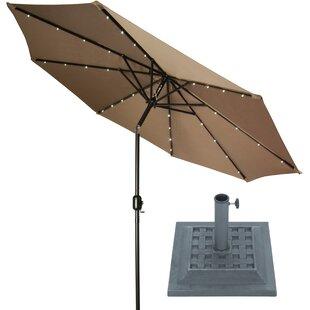 9' Lighted Umbrella by Trademark Innovations