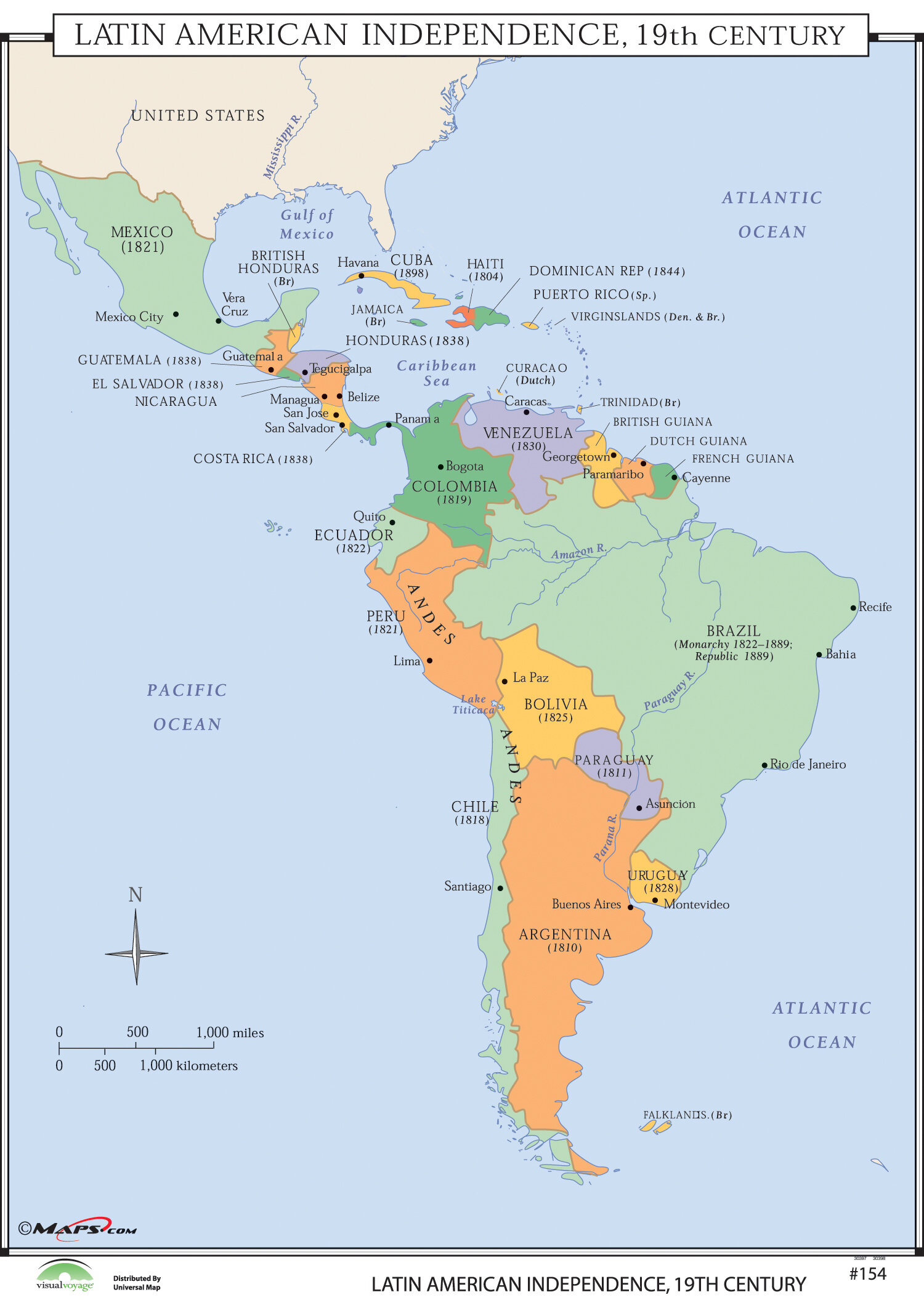 World History Wall Maps - Latin American Independence on china map, carribean map, emea map, indigenous peoples of the americas, south asia, haiti map, latin americans, africa map, spanish language, asia map, eastern europe, central america, latin language, costa rica, canada map, united states map, india map, north america, guyana map, dominican republic map, australia map, sub-saharan africa, north africa, southeast asia, spain map, mexico map, panama map, guatemala map, western europe, latin american culture, europe map, chile map, south america, brazil map, east asia, hispanic and latino americans, western hemisphere map, united states of america,
