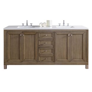 Chicago 72 Double Bathroom Vanity Base by James Martin Furniture