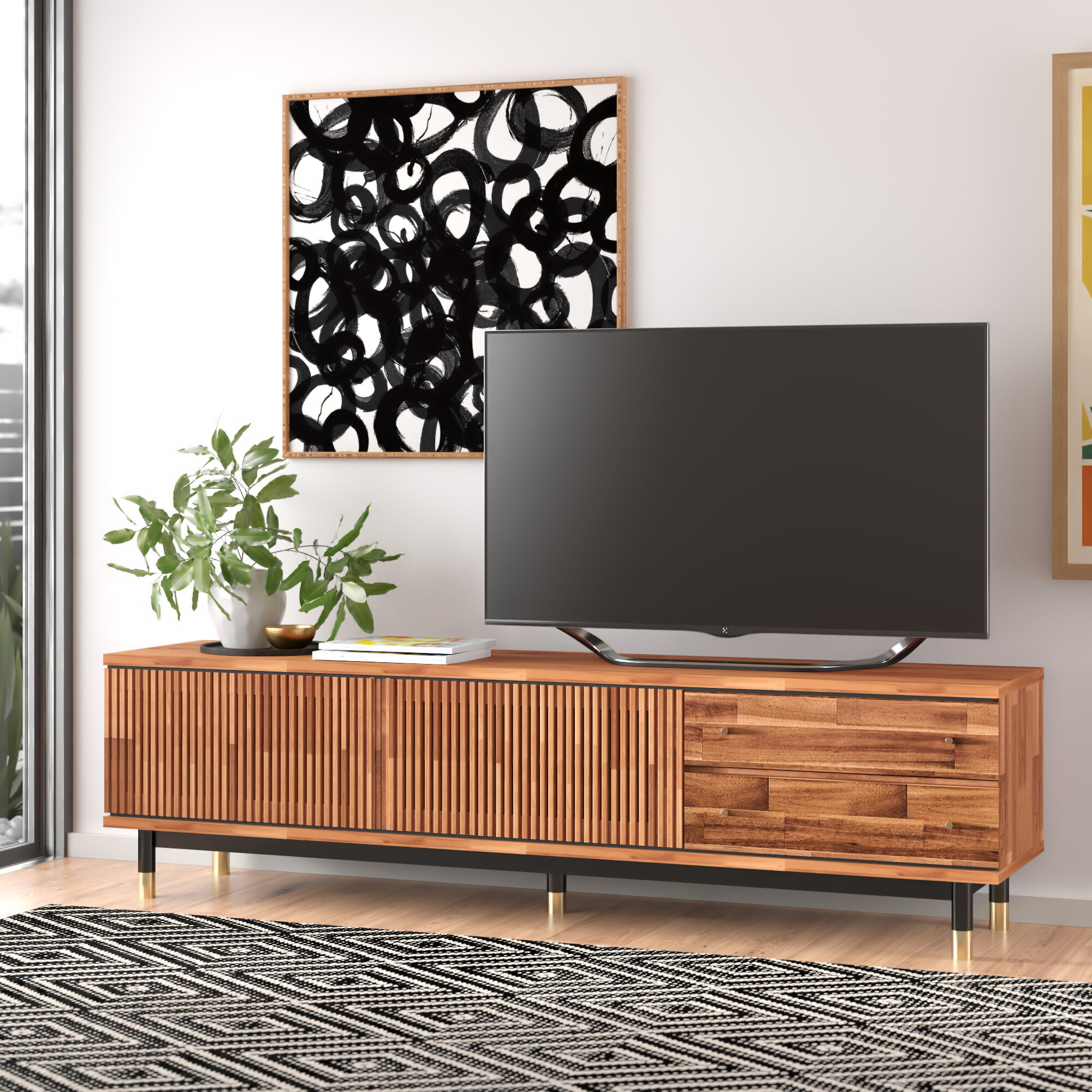 Scotty Solid Wood Tv Stand For Tvs Up To 78 Inches Reviews Allmodern