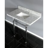 Carrara Marble 36 Single Bathroom Vanity Set by Kingston Brass