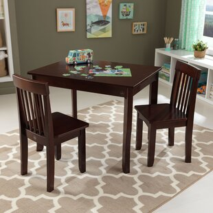 Avalon Kids 3 Piece Rectangular Table and Chair Set : kids dining table and chair set - pezcame.com