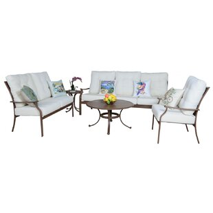Island Breeze 5 Piece Sofa Set With Cushions