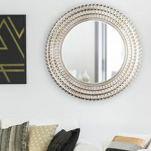 Oakgrove Plastic Frame Round Hanging Wall Mirror