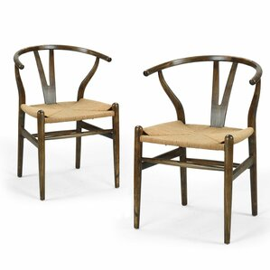 Wishbone Solid Wood Dining Chair (Set of 2) by Adeco Trading