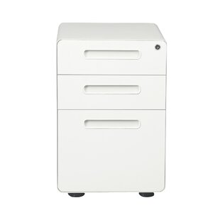 Kenny 3-Drawer Vertical Filing Cabinet by Rebrilliant Design