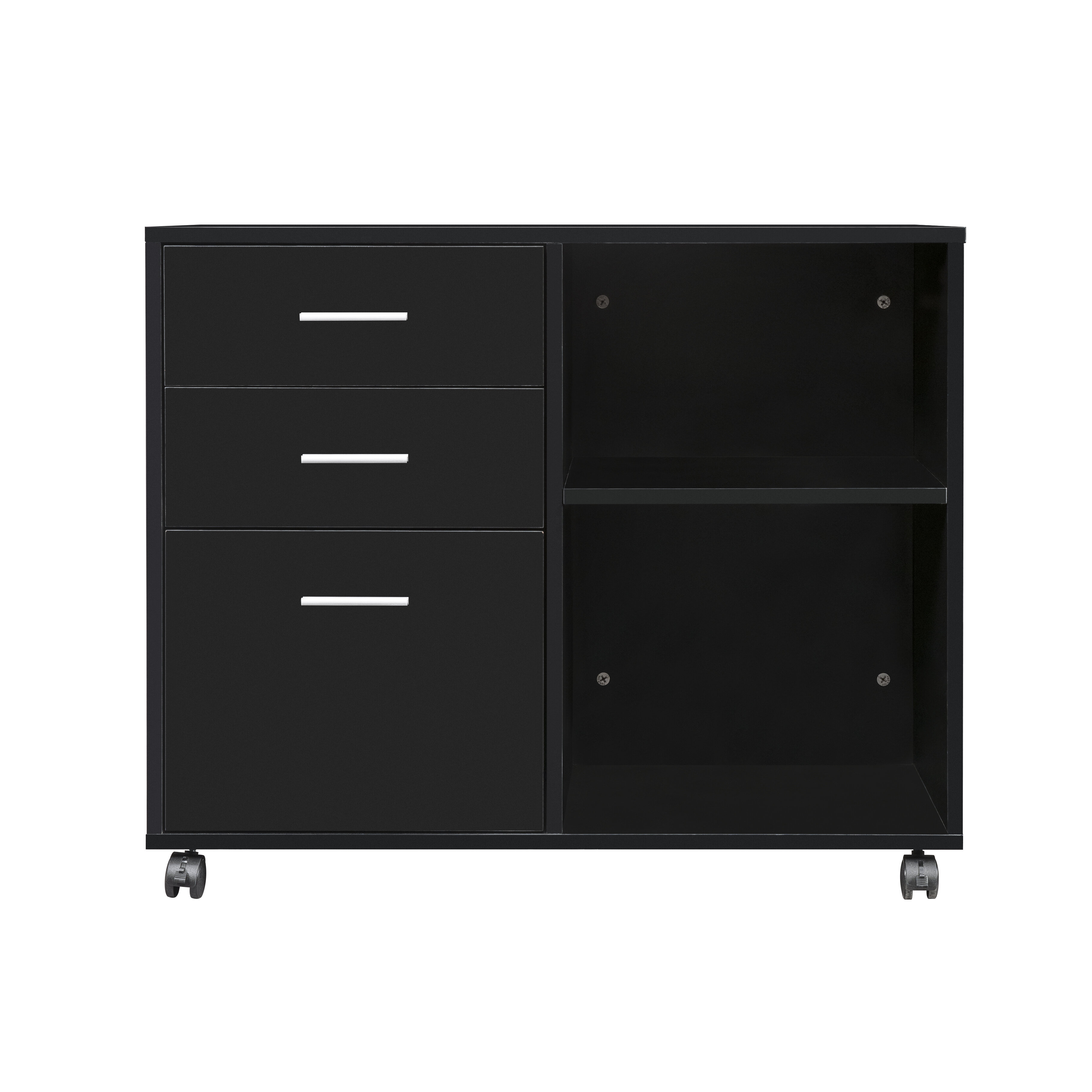 3 Drawer Mobile Lateral Filing Cabinet
