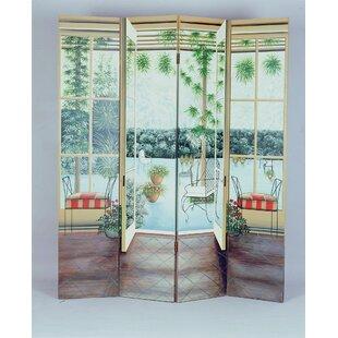Kinnett 4 Panel Room Divider by Red Barrel Studio