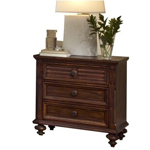 Fairfax Home Collections Compass Rose 3 Drawer Nightstand