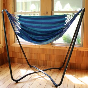 Freeport Park Krystal 2-Point Chair Swing and Space-Saving Hanging Cotton Chair Hammock