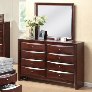Schermerhorn 8 Drawer Double Dresser with Mirror by Latitude Run
