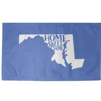East Urban Home Home Sweet Maryland Blue Area Rug Wayfair