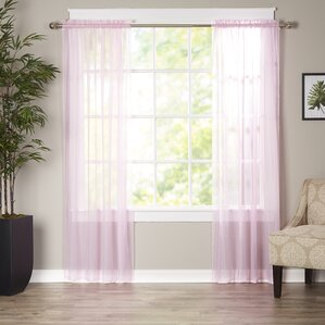 Solid Sheer Curtain Panels (Set Of 2)