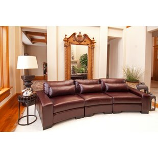 Loft Top Leather Sectional by Elements Fine Home Furnishings Reviews