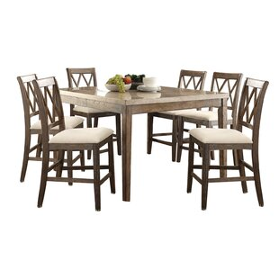 7 Piece Counter Height Dining Set by Infini Furnishings Best Choices