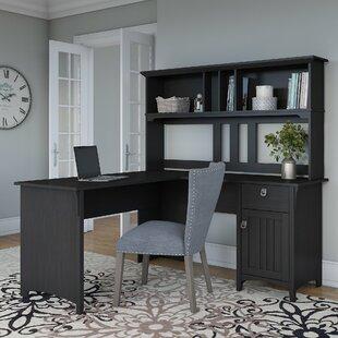 Broadview L-Shape Credenza desk with Hutch