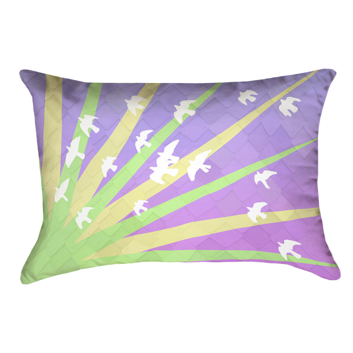 Brayden Studio Enciso Modern Birds And Sun Lumbar Pillow Wayfair