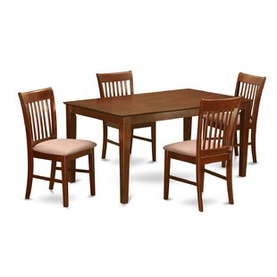 Smyrna 5 Piece Solid Wood Dining Set by Charlton Home 2019 Sale