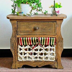 Millwood Pines Steinberg Classic Countryside Wood Storage 1 Drawer Nightstand