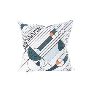 Saguaro Printed Cotton Throw Pillow