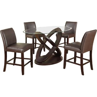 Cicicol 5 Piece Counter Height Dining Set
