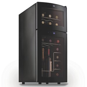 21 Bottle Dual Zone Freestanding Wine Cooler by Wine Enthusiast